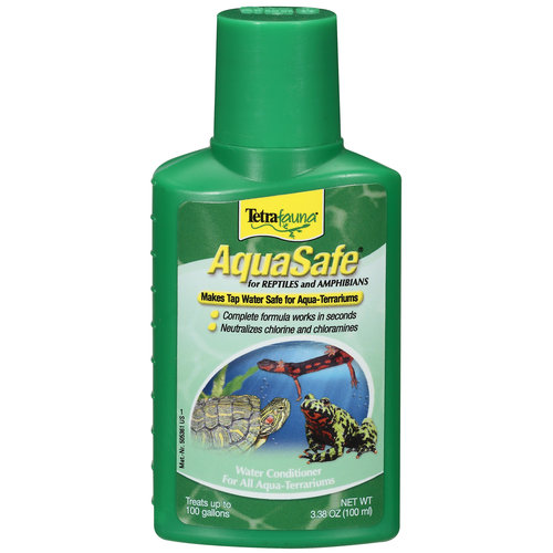 Tetrafauna Aquasafe Water Conditioner For Reptiles And Amphibians, 3.38 oz