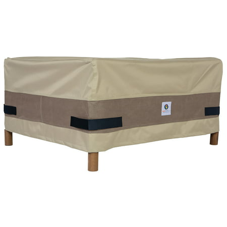 Duck Covers Elegant Square Air Conditioner Cover - Water Resistant Outdoor Furniture Cover, 34L x 34D x 30H, Swiss Coffee