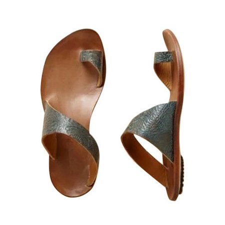 Bleach Leather - Women's Gladiator Flip Flops Sandals Slippers Summer Beach Leather Shoes Sizes