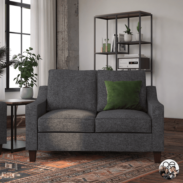 Queer Eye Luke Loveseat, Gray Linen