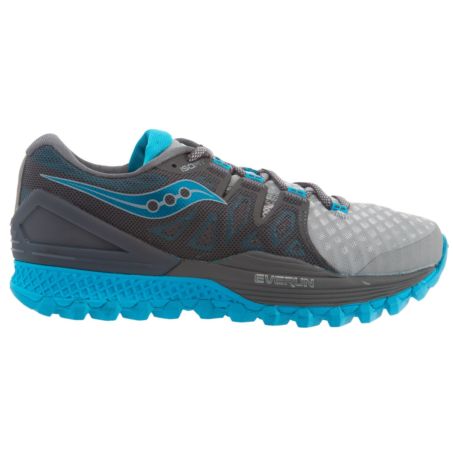 Saucony Wode los hombres Xodus ISO 2 Fabric Low Top Lace Up Running Sneaker