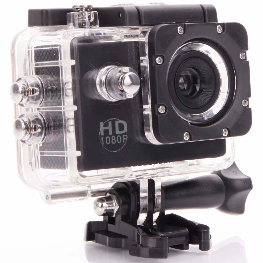 X4000-2 HD 1080P 90-Degree Wide-angle Lens Waterproof Sports DV (US Standard) Black