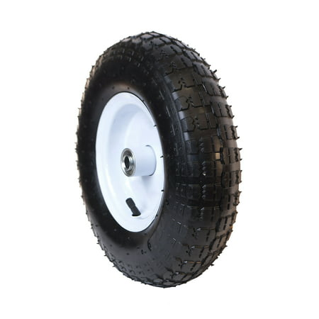 ALEKO WAP13 Turf Pneumatic Replacement Wheel for Wheelbarrow - 13 Inch - Black Tire with White