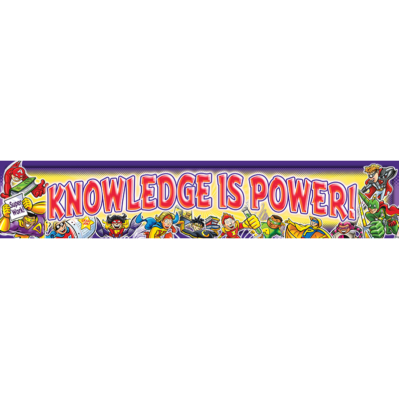 KNOWLEDGE IS POWER BANNER