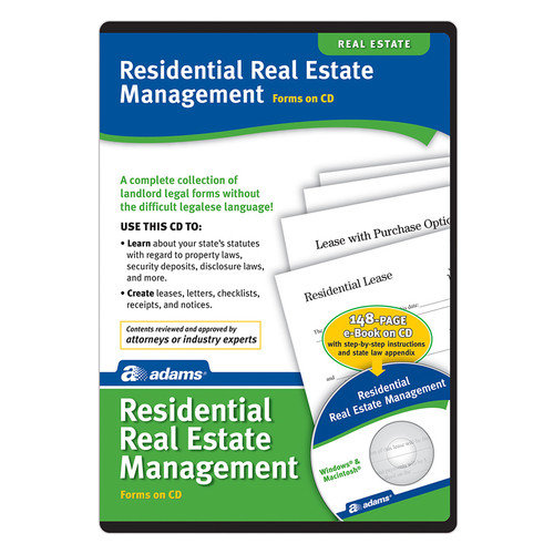 Adams Business Forms Residential Property Management Compact Disc (Set of 6) (Set of 6)