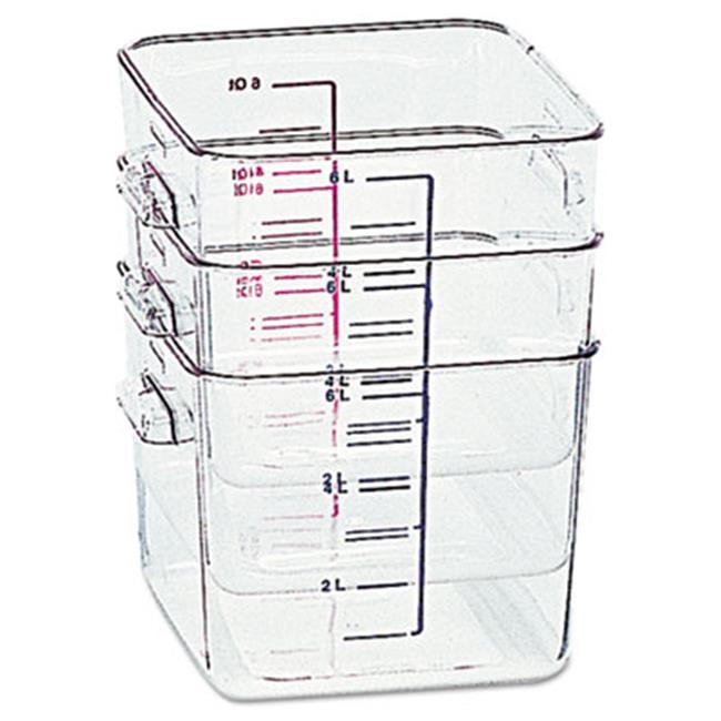 Rubbermaid Commercial Products 6308CLE Space Saver Square Containers Clear - 8 Quart
