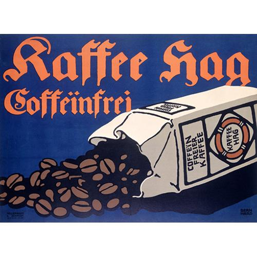 "ArteHouse Fine Art Print ""German Kraft Hag Coffee Ad"", Archival Paper, 24"" x 32"""