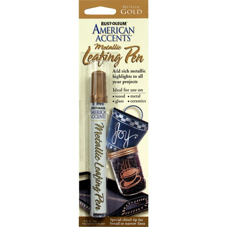 American Accents  215190 1/3 Oz Metallic Gold  Leafing Pen - Gold Leaf Pin