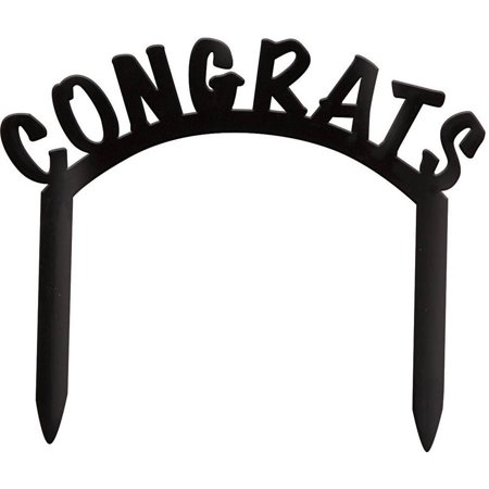 Plastic Congrats Cake Topper](Packers Cake)