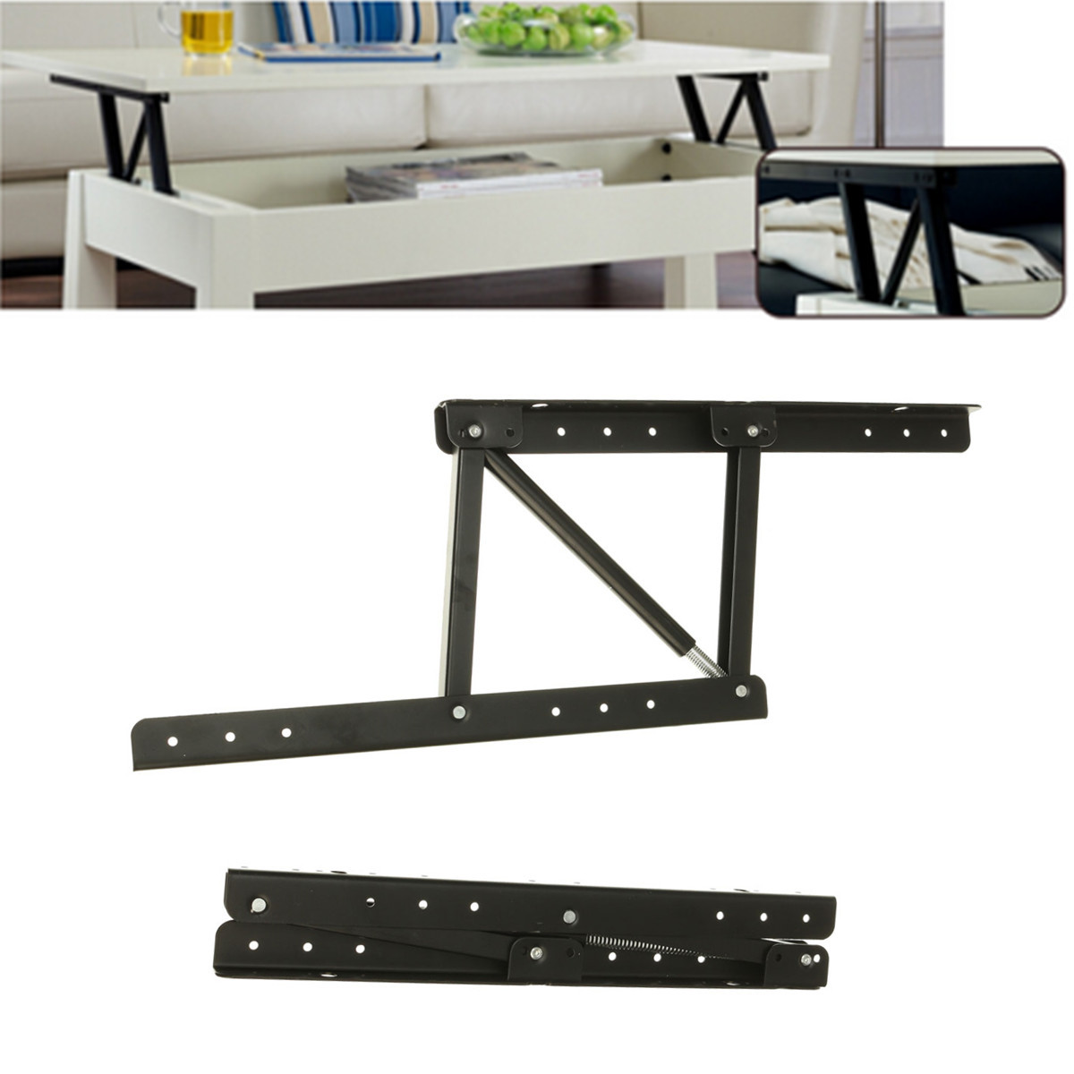 Lift Up Top Coffee Table DIY Hardware Fitting Furniture Mechanism Hinge  Spring Tools