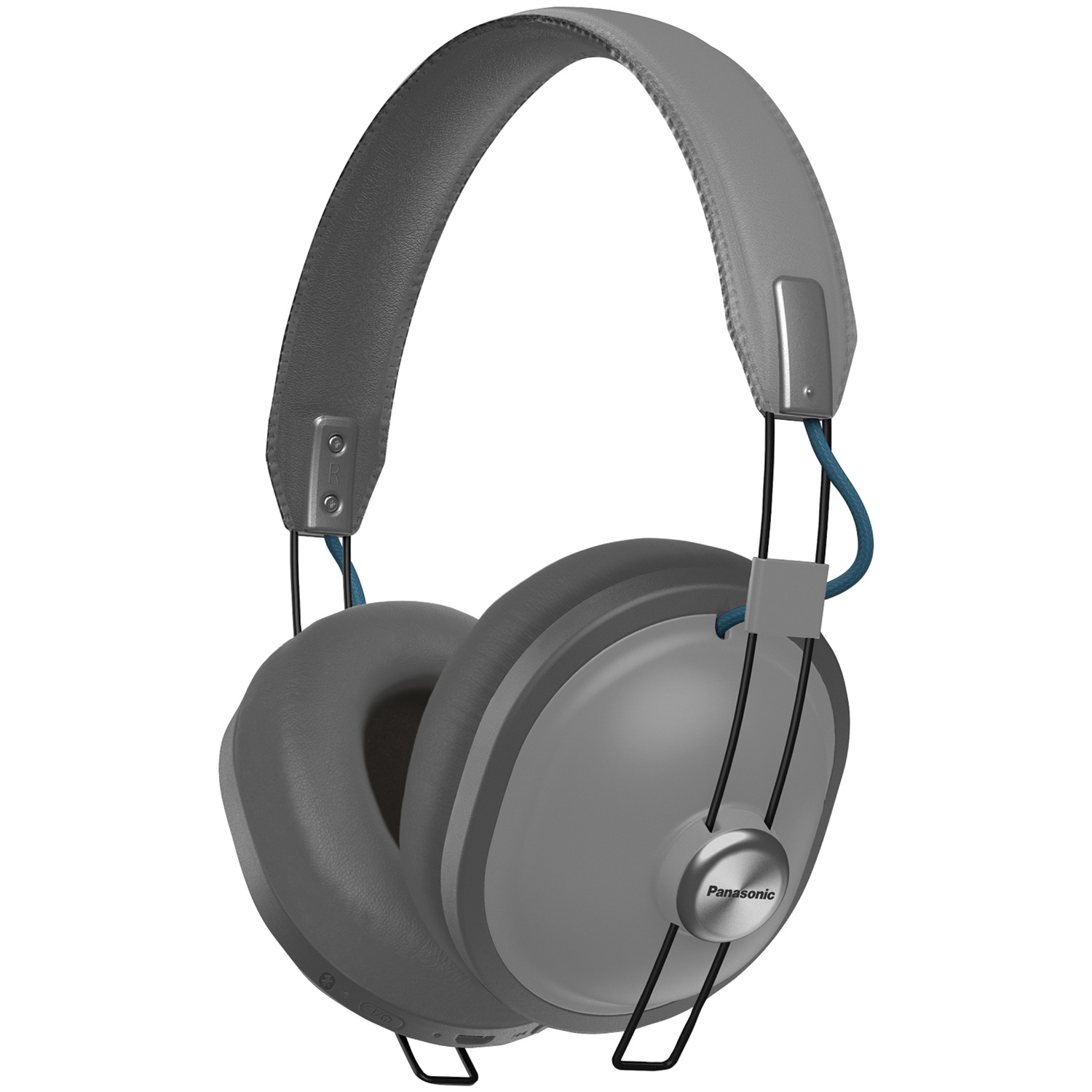 Panasonic RP-HTX80B-H Retro Bluetooth Over-Ear Headphones (Matte Steel)