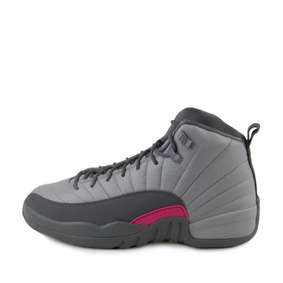 aad87b24440f Nike - Nike Girls Air Jordan 12 Retro GG Wolf Grey Vivid Pink 510815 ...