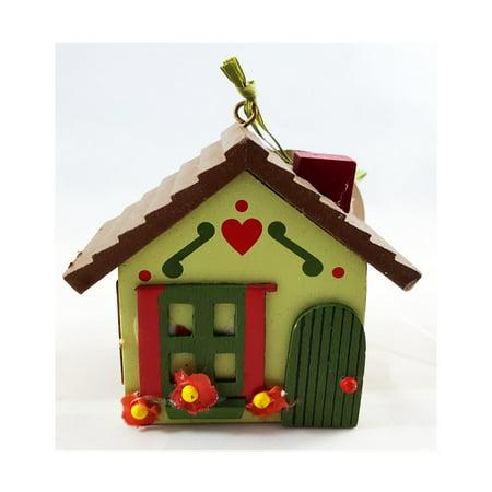 Martha Stewart Woodland Holiday Cottage Novelty Ornament Green ()