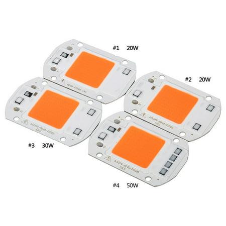 110V/50W Full Spectrum LED COB Chip Grow Light Plant Growing Lamp Bulb - image 2 of 7