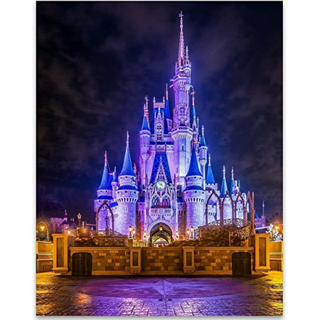 Cinderellas Castle Print - 11x14 Unframed Art Print - Great Home and Nursery Decor or Gift for Disney Fans ()