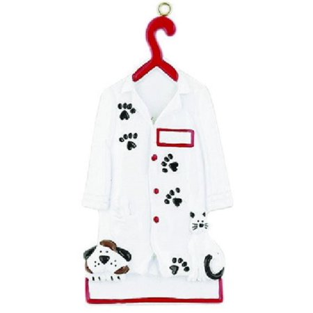 Veterinarian Outfit with Dog and Paw Prints Christmas Tree Ornament Decoration, Ornaments By Ornaments
