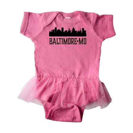 Baltimore Maryland Skyline City Silhouette Infant Tutu Bodysuit Silhouette Infant Bodysuit