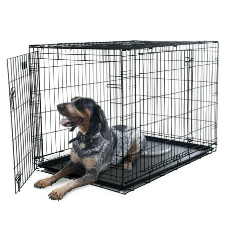 X Large 2 Door Foldable Dog Crate Cage 42 X 28 Walmart