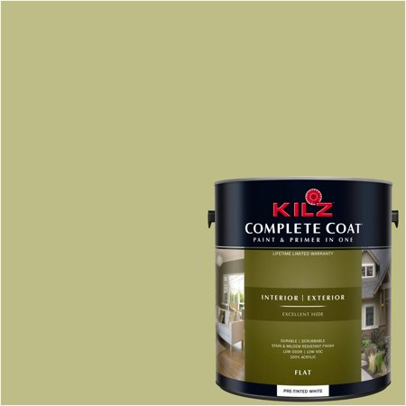 - KILZ COMPLETE COAT Interior/Exterior Paint & Primer in One #LF250-02 Burnished Green