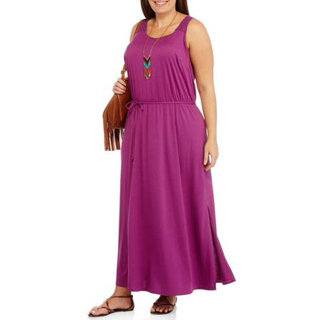 Concepts - Women\'s Plus-Size Crochet Maxi Dress - Walmart.com
