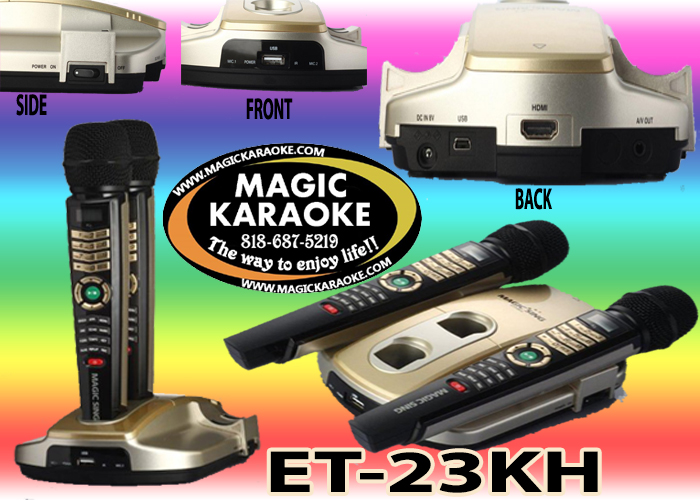 New 2017 Magic Sing Karaoke Mic ET23KH Tagalog 5145 Mix Tagalog English Songs by entertech