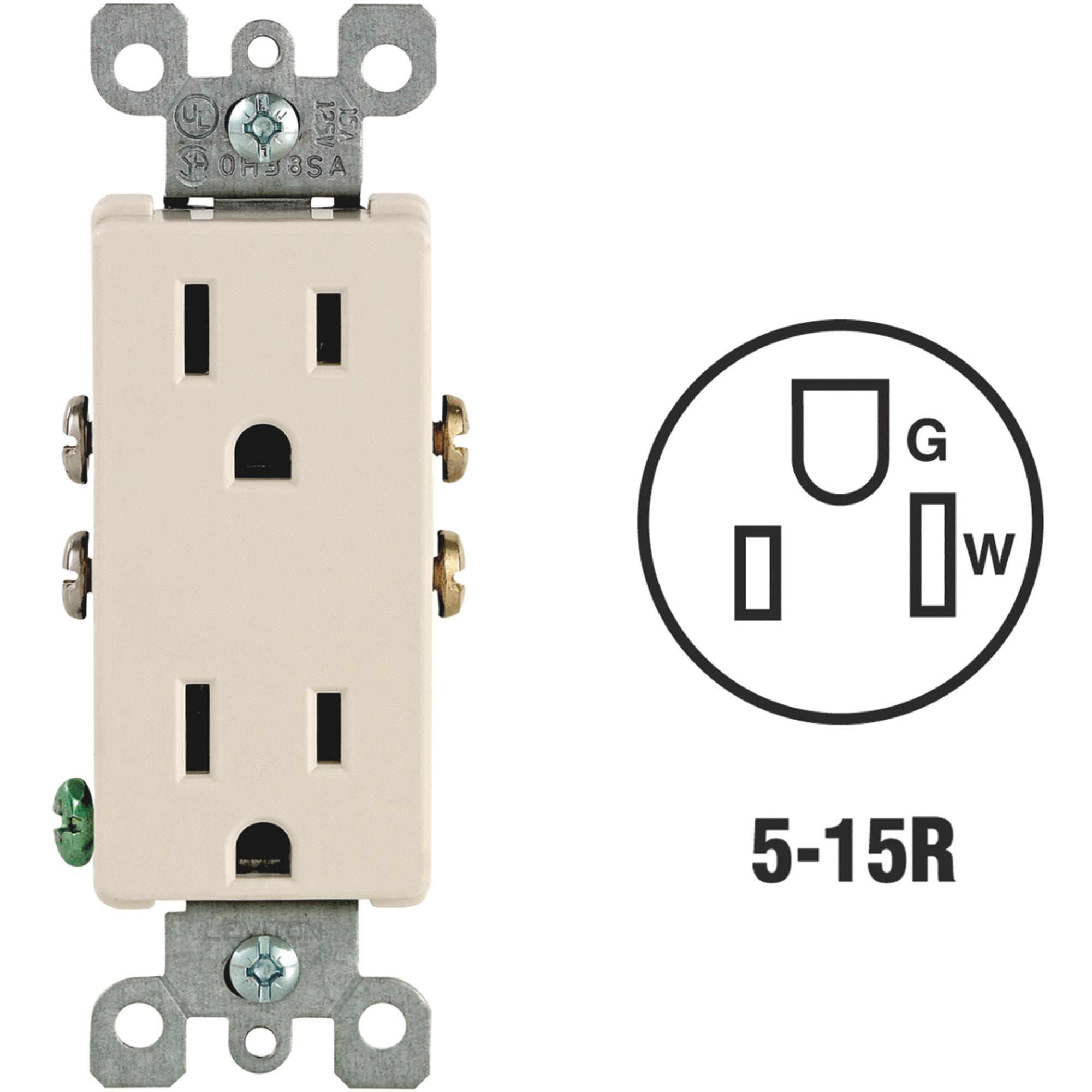 Leviton Decora Duplex Outlet
