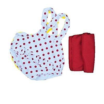 Red Polka Dot Swimsuit W Red Towel Outfit Teddy Bear Clothes Fits Most 14   18 Build A Bear  Vermont Teddy Bears  And Make Your Own Stuffed Animals