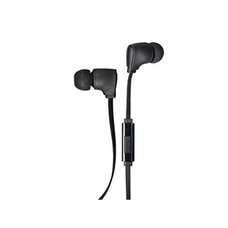 Monoprice Premium 35mm Wired Earbuds Headphones w/ in line Microphone, Black