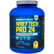 BodyTech Whey Tech Pro 24 Protein Powder  Protein Enzyme Blend with BCAA's to Fuel Muscle Growth  Recovery, Ideal for PostWorkout Muscle Building  Banana Crème (5 Pound)
