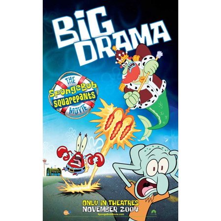 Spongebob Squarepants Movie Poster  11 X 17