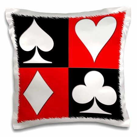 3dRose Poker. Four of a kind. Aces. Popular image. Best seller. - Pillow Case, 16 by