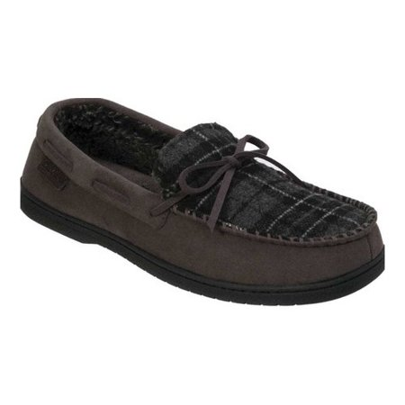 b530a82b342 Dearfoams - Men s Dearfoams MFS Moccasin Slipper with Tie and Whipstitch -  Walmart.com