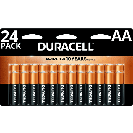 Duracell 1.5V Coppertop Alkaline AA Batteries 24 Pack 1.5v Dc Silver Battery