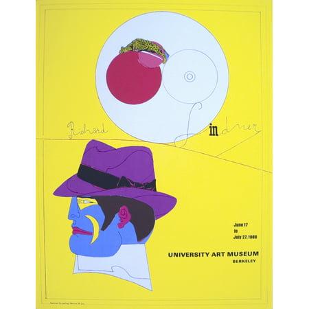 Richard Lindner University Art Museum 1968 Serigraph
