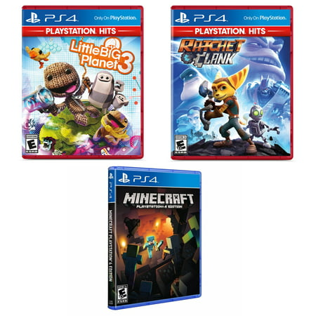 Ratchet and Clank and Little Big Planet Greatest Hits with Minecraft (Ratchet And Clank Ps4 Pre Order Code)