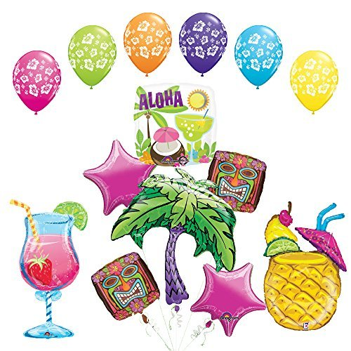The Ultimate Luau Cocktail Party Supplies and Balloon Decorations