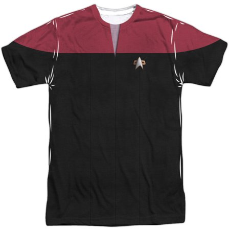 Star Trek Men's  Voyager Command Uniform Sublimation T-shirt White - High Quality Star Trek Uniform