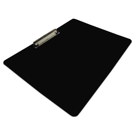 Magnetic A3 Landscape Black Clipboards with Economy Chrome Clip