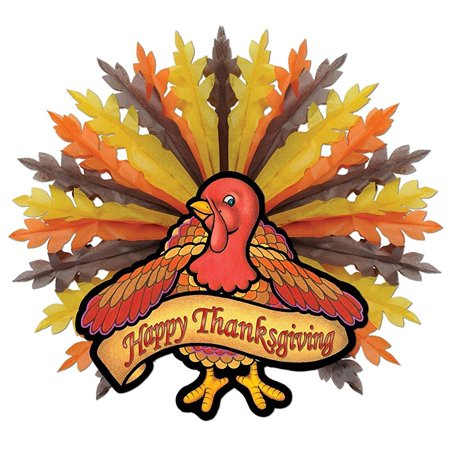 Thanksgiving Turkey Hanging Decoration (Pack of 6)