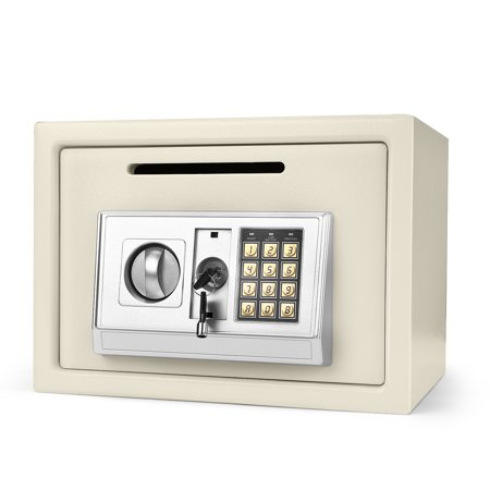 Electronic Depository Safe Box with Drop Slot Posting Opening - Digital Keypad Combination Lock Security Cabinet For Home Office Money Documents Gun Cash Deposit Hotel (13.8