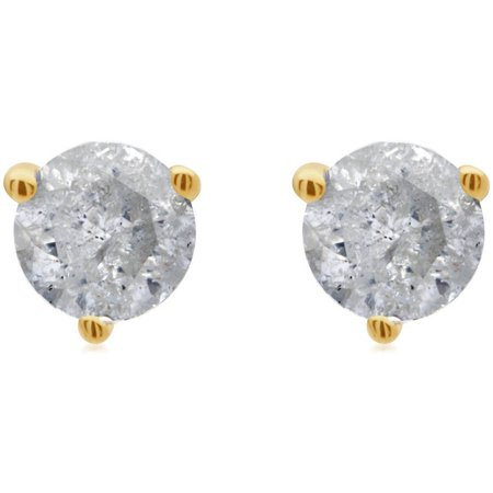 1/2 Carat T.W. Round Diamond 14kt Yellow Gold Martini Stud Earrings with Gift Box, IGL Certified