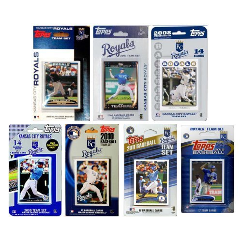 MLB Kansas City Royals 7 Different Licensed Trading Card Team Sets