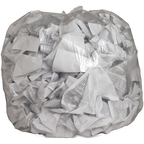 Genuine Joe Low Density Trash Can Liners, Clear, 45 gal, 250 count