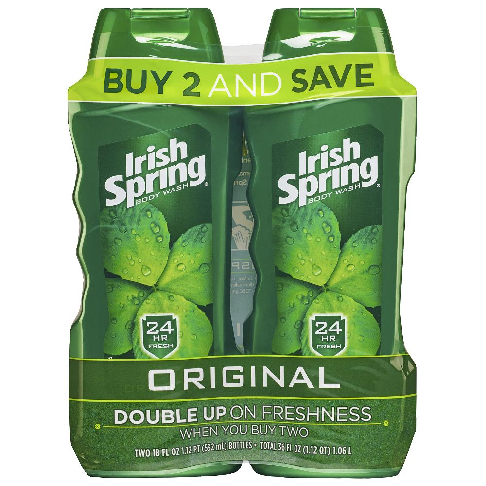 Irish Spring Body Wash for Men, Original - 18 ounce Twin Pack