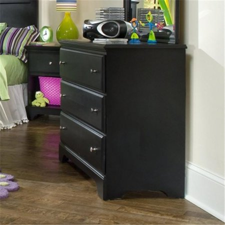 Carolina Furniture 435300 Midnight Single Dresser In Black