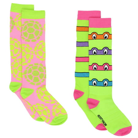 TMNT Teenage Mutant Ninja Turtles Womens 2 pack Socks NJ058JSB (Tmnt Socks)