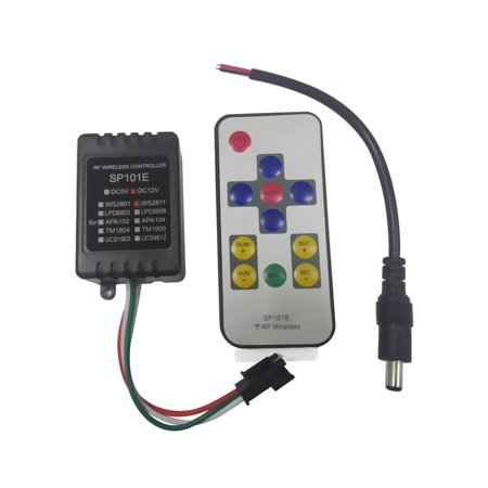 Led4everything  Tm  Sp101e Mini Rf Wireless Controller Remote For Ws2811 Ws2812b Led Strip Dc12v