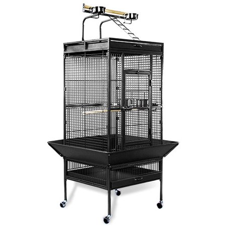 "Prevue Select Wrought Iron Parrot Bird Cage 24x20x60"", Black"