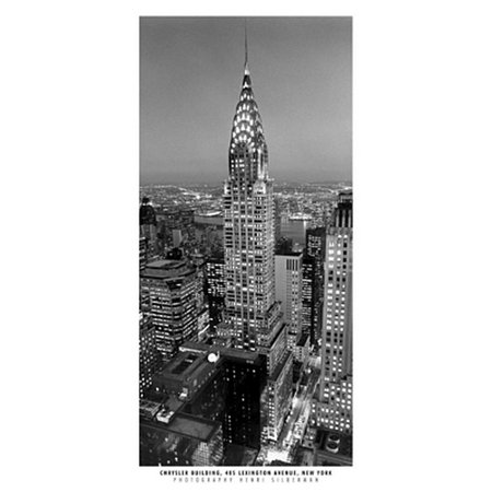 - Chrysler Building Poster Print by Henri Silberman (9 x 19)