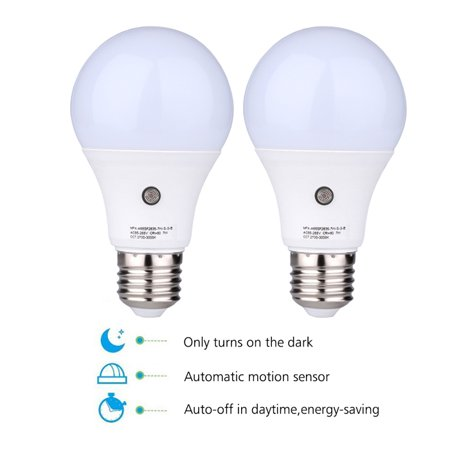 2pcs e27 6000k led dusk to dawn sensor light bulbs built in 2pcs e27 6000k led dusk to dawn sensor light bulbs built in photosensor detection auto aloadofball Gallery